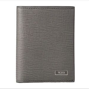 Tumi Gray Monaco Gusseted Card Case with ID
